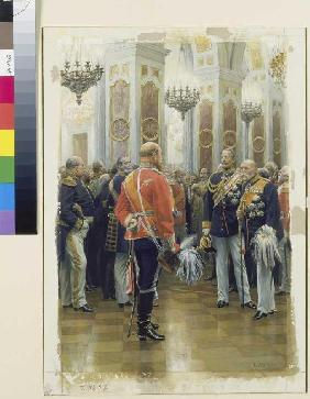 The red prince (prince Friedrich Karl in the uniform of the Ziethen hussars)