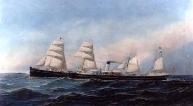 The Steam and Sail Ship `Lydian Monarch'