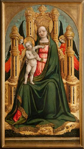 The Virgin and Child Enthroned and Two Angels