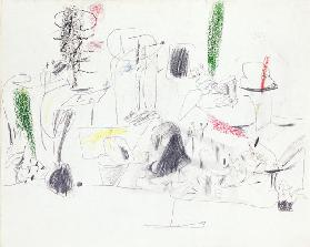 Untitled, c.1946 (pencil & chalk on paper)