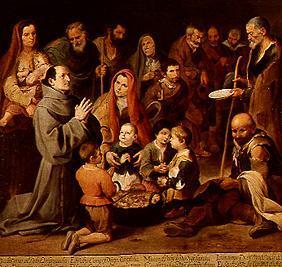 St. Diego of Alcalá feeding the Poor
