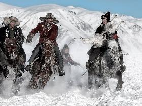 Winter Horse Race