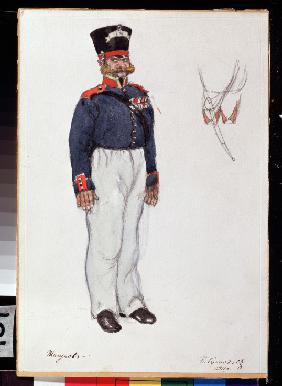 Costume design for the theatre play The fiery Heart by A. Ostrovsky