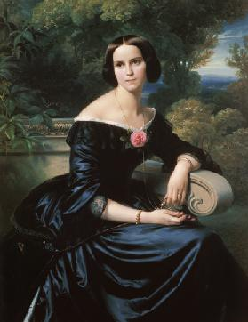 Portrait of the Sophie Eugenie baroness of gut, born Lutteroth.