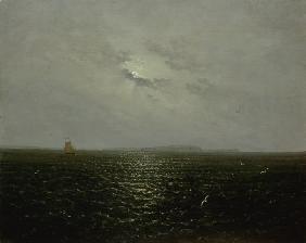 Moonlit night at Ruegen