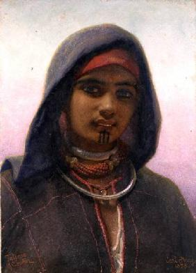 'Fatime of Abukir', portrait of an Egyptian Fellaheen Girl