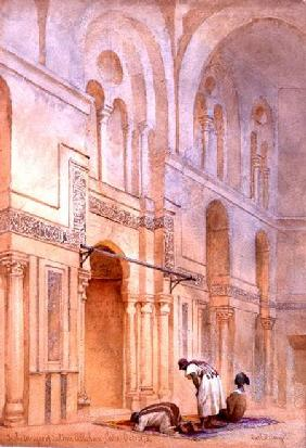In the Mosque of Sultan Allahoon, Cairo