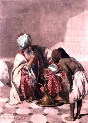 The Nargileh Smoker and his slave boy