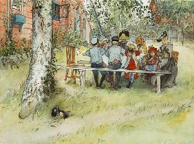 Breakfast under the Big Birch, from 'A Home' series