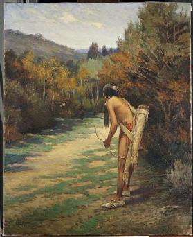 Taos Hunter (oil on canvas)