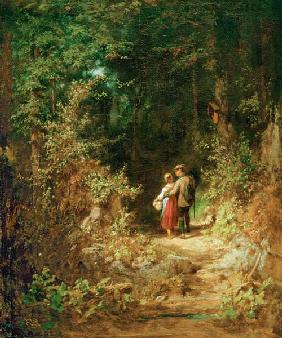 C.Spitzweg / Pair of Lovers.../ c.1860