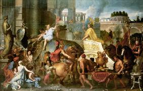 Alexander the Great makes his entrance into Babylon