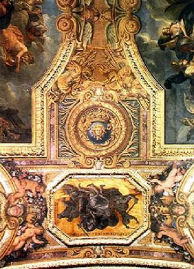 The Ending of the Mania for Duels in 1662, Ceiling Painting from the Galerie des Glaces