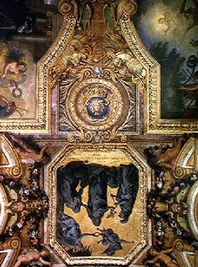 Peace Made at Aix-la-Chapelle in 1668, Ceiling Painting from the Galerie des Glaces