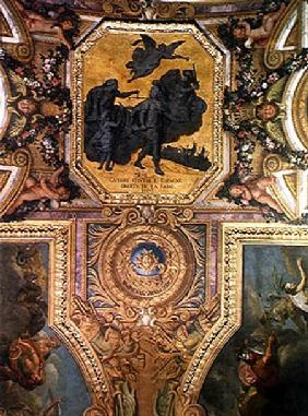 War for the Rights of the Queen in 1667, Ceiling Painting from the Galerie des Glaces