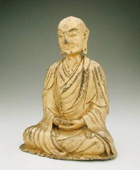 Figure of a seated luohan, Liao dynasty
