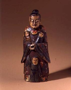 Figure of Song Niang-Niang, with three children, Fujian, Qing dynasty