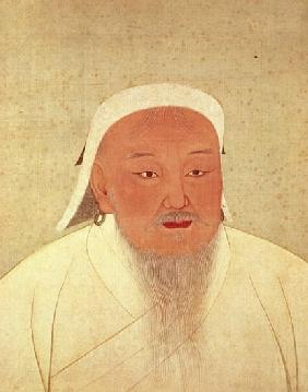 Portrait of Genghis Khan (c.1162-1227), Mongol Khan, founder of the Imperial Dynasty, the Yuan, maki