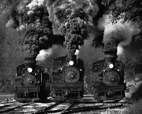 Train Race in BW