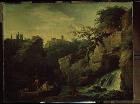 Romantic landscape (Landscape in the Taste of Salvatore Rosa)