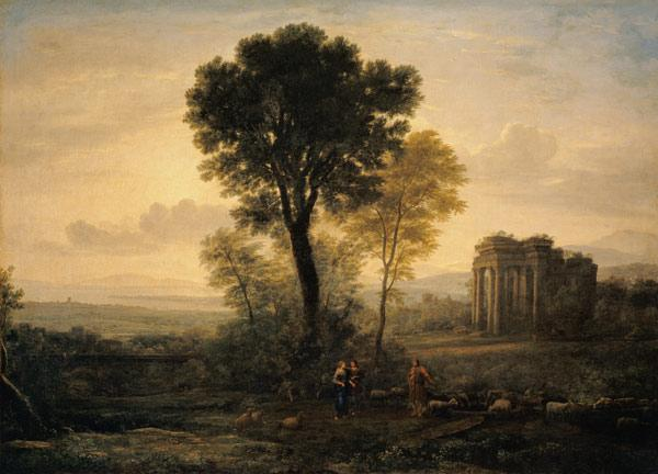 Morning (Landscape with Jacob, Rachel and Leah by the Well)