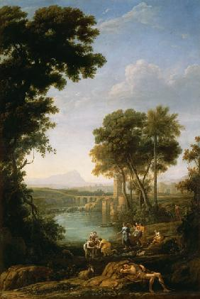 Landscape with the Finding of Moses