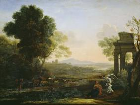 Countryside with Hagar and the angel