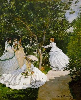 Ladies in the garden in Ville d'Avray.