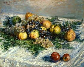 Quiet life with pears and grapes