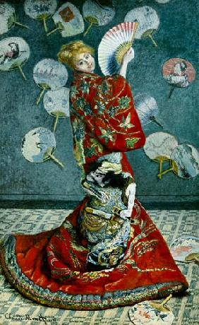 Madam Monet in the kimono (La Japonaise)