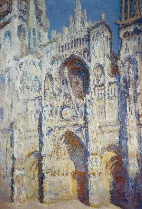 Rouen Cathedral in Full Sunlight: Harmony in Blue and Gold