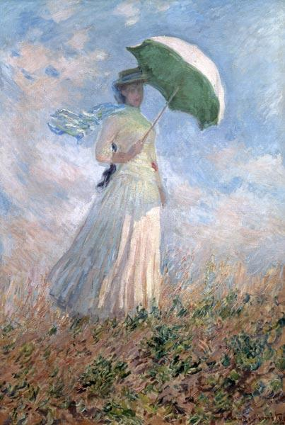 Woman with a Parasol, looking to her Right (Susanne Hoschedé)