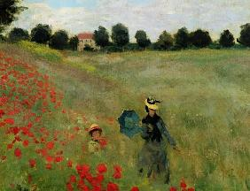 C.Monet / Poppy field at Argenteuil /Det