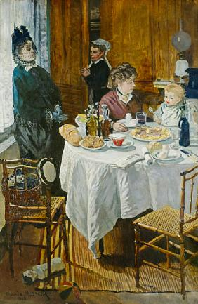 Le Dejeuner, breakfast scene in the room