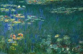 Water Lilies, Green Reflection, Left Part