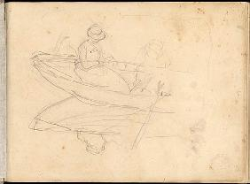 Two Women Boating on the Epte
