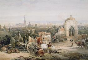 Seville from the Cruz del Campo, 1835 (w/c and gouache over pencil on paper)