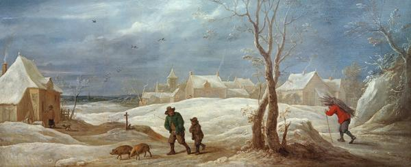 David Teniers d.J., Winterlandschaft