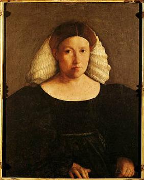 Portrait of a Woman with a White Hairnet