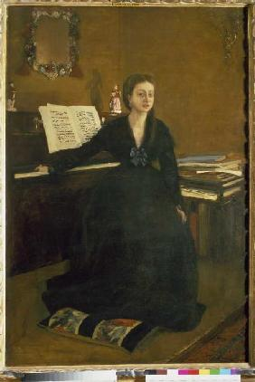 Madam Camus at the piano.