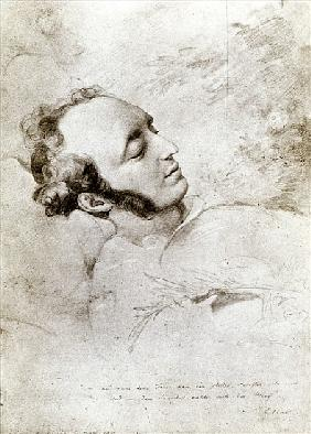 Felix Mendelssohn (1809-47) on his deathbed, c.1847
