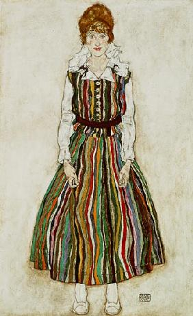 Portrait of Edith Schiele, the artist's wife