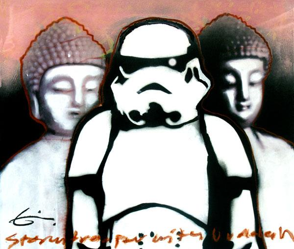 Stormtrooper And Buddah