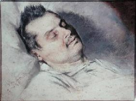 Honore de Balzac (1799-1850) on his Deathbed