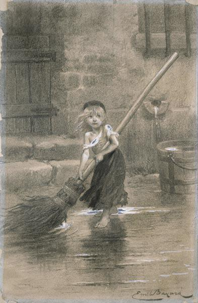 Cosette. Illustration from Les Misérables by Victor Hugo 1862