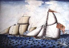 "The Capture of ""The Four Brothers"" by ""The Badger"", Revenue Cutter"