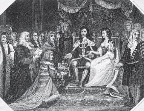 Presentation of the Bill of Rights to William III (1650-1702) of Orange and Mary II (1662-94)
