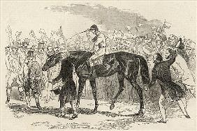 Sir Tatton Sykes leading in the winner of the St. Leger, from ''The Illustrated London News'', 26th
