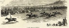 The 2000 Guinea Race, Newmarket, from ''The Illustrated London News'', 3rd May 1845