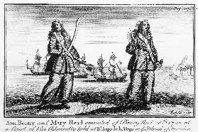 Ann Bonny and Mary Read convicted of piracy November 28th 1720 at a court of Vice Admiralty held at